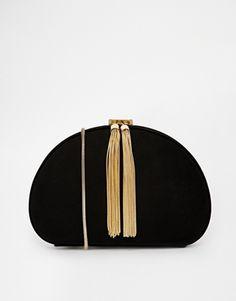 gold tassel bag