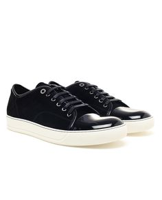 LANVIN | Suede and Patent Leather Trainers.