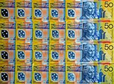 Australian 50 note. I'm not sure (based on other photos) that the colors are really this intense, but I love it. And especially the combo of blue and yellow, really pops.