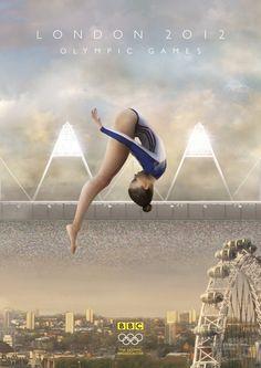 BBC Olympics 2012 - Stadium UK by Charlie Smith, via Behance Team Gb, Senior Project, Move Your Body, Print Advertising, Olympic Games, Gymnastics, Behance, Fan Art, Fanart