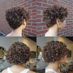 Latest short haircuts for that will give you a stunning look. Pixie cuts, bob hairstyles, shaggy and edgy short haircut, textured bobs and more. Curly Pixie Haircuts, Curly Hair Cuts, Curly Hair Styles, Curly Undercut, Updo Curly, Short Hairstyles For Women, Hairstyles With Bangs, Best Short Haircuts, Quiff Hairstyles