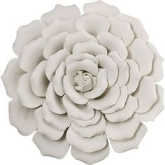 Bring garden-chic appeal to your home with this charming ceramic wall decor, featuring a floral silhouette and cream finish.