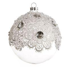 Białe - Bombki szklane - Ozdoby w poj. opakowaniach - Święta 2015 - Sklep Online - Eurofirany