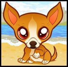 How to Draw a Chihuahua Puppy, Chihuahua Puppy, Step by Step, Pets, Animals, FREE Online Drawing Tutorial, Added by Dawn, August 28, 2011, 7:33:33 pm
