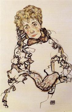 Sarena Lederer, 1917 by Egon Schiele. Art Nouveau (Modern). portrait. Private Collection