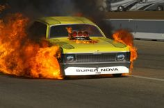 Funny Car in flames