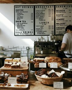 coffee shop What are you having for lunch Im starving. give me all the sour dough. Coffee Shop Menu, Cozy Coffee Shop, Coffee Shop Design, Coffee Cafe, Coffee Shop Business, Deco Restaurant, Restaurant Design, Kaffee To Go, Cafeteria Menu