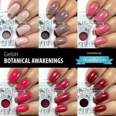 Gelish Botanical Awakenings (Spring 2016) Collection Swatches