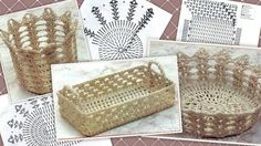 Tanti modelli di cestini di varie forme e colori, per decorare le nostre tavole. Clicca sulla foto per i modelli e gli schemi.