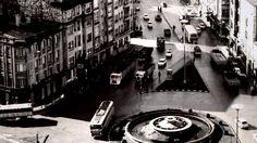 Cuatro Caminos en 1960 ,al poco de colocarse la fuente