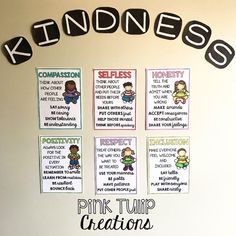 These 6 bright posters will provide an excellent visual to remind your students how to show kindness in the classroom. A great way to encourage good morals and values...