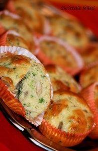 Muffins aux champignons & roquefort : Etape 4