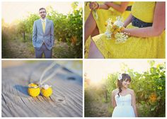 Pops of yellow are a great accent for a summer wedding Summer Wedding, Diy Wedding, Wedding Ideas, Summer Flowers, Color Schemes, Chevron, Bride, Yellow, Stylish