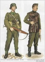 Znalezione obrazy dla zapytania A második világháború magyar katonai egyenruhákat