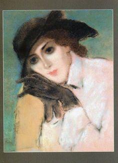 Jozsef Rippl-Ronai, Lady with black gloves (Zorka) on ArtStack #jozsef-rippl-ronai #art