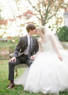 Sassi Holford wedding dress | Photo by Jeremy Harwell | 100 Layer Cake  I freaked out when I noticed who they were!!!!!  AAHHH so cute!