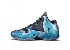 """official photos 135db 5581e The Nike LeBron 11 """"Gamma Blue"""" represents unbreakable strength and was  inspired by tempered steel."""