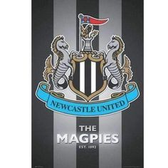 Up for sale is a poster of the Newcastle United FC crest by GB Eye. Great looking Newcastle United poster. Newcastle England, Newcastle United Fc, Newcastle United Wallpaper, Blaydon Races, Buy Posters Online, Music X, Soccer Poster, Cool Posters, Soccer