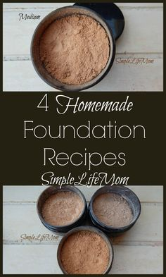 4 Homemade Foundation Recipes from Simple Life Mom