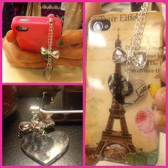 Paris iPhonecase with charm