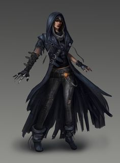 Raven, Teen Titans redesign by Skyzocat female thief assassin rogue armor clothes clothing fashion player character npc | Create your own roleplaying game material w/ RPG Bard: www.rpgbard.com | Writing inspiration for Dungeons and Dragons DND D&D Pathfinder PFRPG Warhammer 40k Star Wars Shadowrun Call of Cthulhu Lord of the Rings LoTR + d20 fantasy science fiction scifi horror design | Not Trusty Sword art: click artwork for source