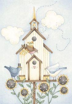 birds and birdhouse Debbie Mumm - Soma - Álbumes web de Picasa