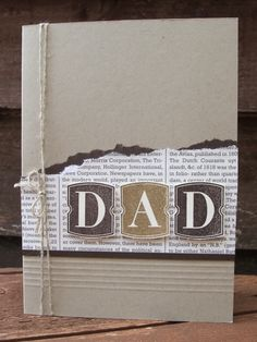 Stampin' Up Dad card by Amanda Burditt.  Love this SU alphabet; perfect for guy cards!