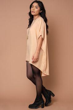 6fda52f4eb8 Altar Peach Cupro Fox Dress by Altar on Made Trade Made Clothing