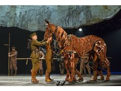 """Joey, a lifesize horse from the play """"War Horse,"""" is operated by three puppeteers. It was among the attractions at a recent event by the Segerstrom Center for the Arts to sell season tickets for its upcoming Broadway season. """"War Horse"""" comes to the Segerstrom Center early in 2013. BRINKHOFF-MOEGENBURG"""