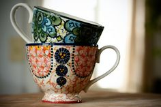 Boho Print Tea Cups | Bohemian Kitchen