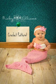 CROCHET PATTERN. Mermaid Outfit Crochet Pattern. by AdairToCrochet, $10.00