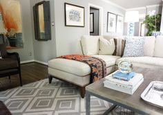 Renters Solutions: Add Color Without Painting: Rooms with Colorful Pillows & Throws
