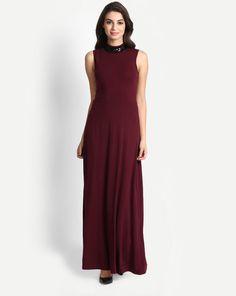 0cc73f3835 Buy Wine Elegance Maxi Dress Online at StalkBuyLove