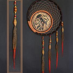 """Купить Декоративный ловец снов """"Сон Навахо"""" - коричневый, ловец снов, ловец сновидений"""
