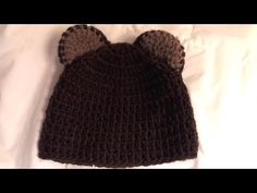 How to #crochet little bear beanie (video one) - this is so cute and easy to do.