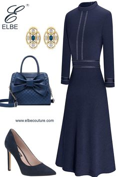 Dressy Outfits, Modest Outfits, Fall Outfits, Work Outfits, Gown Suit, Smart Outfit, Classic Style, My Style, Feminine Dress