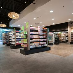 PHARMACIE PARAPHARMACIE / centre commercial / agencement pharmacie design / retail / beauty / display / concept/ Architecture Intérieure MAYELLE / Photographie Pierre Rogeaux Pharmacy Store, Centre Commercial, Beauty Supply, Store Fronts, Apothecary, Displays, Convenience Store, Stationery, Product Display