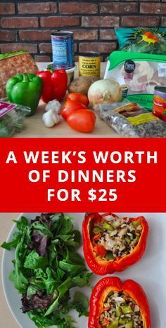 how to make a week's worth of dinners for only $25 -- how to grocery shop on a budget at Trader Joe's.