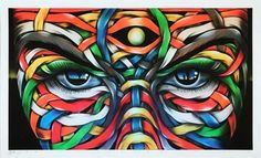 Otto Schade Magic Moon - 2017 - Giclee print on archival pigment 300gsm fine art paper - 60cm x 35cm - 24x15 inch - Edition25 - Ministry of Walls Street Art Gallery The Urban Art Broker - shop
