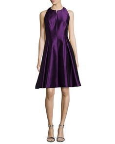 Sleeveless Fit-and-Flare Dress by Carmen Marc Valvo at Bergdorf Goodman.