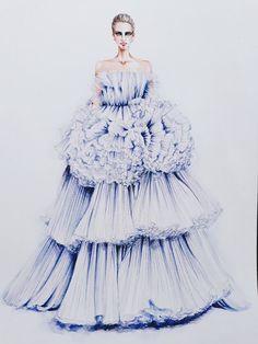 The bottom of dress
