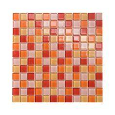 Mosaïque orange verre 30 x 30 cm - CASTORAMA