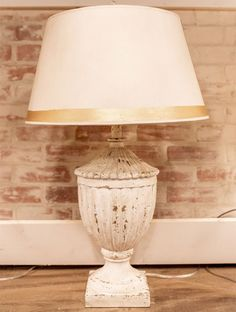 find french shabby chic farmhouse table lamps in red