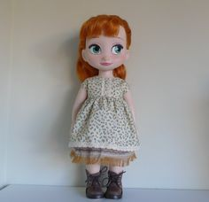 Dress and skirt for disney animator dolls by Hillyrags on Etsy