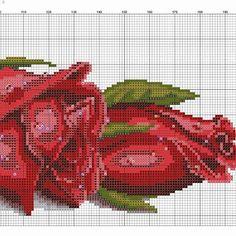 Roses, 2 of 2 Cross Stitch Boards, Cross Stitch Love, Cross Stitch Needles, Cross Stitch Alphabet, Cross Stitch Flowers, Counted Cross Stitch Patterns, Cross Stitch Designs, Cross Stitch Embroidery, Embroidery Patterns