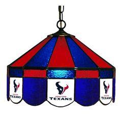 Houston Texans NFL 16 Inch Glass Lamp - Sports Fans Plus