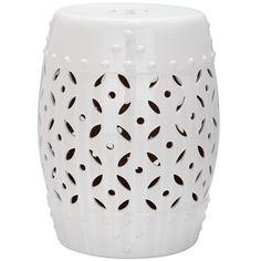 Safavieh Paradise Harmony White Ceramic Garden Stool - Overstock™ Shopping - Great Deals on Safavieh Garden Accents