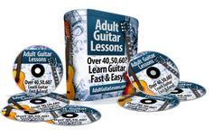 """Finally... An Easy Guitar Method Specifically For Active Adults~ Online, Multi-Media Format, Including 100+ Video Lessons! Only An Affordable One Time Investment!  Learn To Play Your First Song Within Days!    Are You A """"Boomer""""? Discover How To Easily Overcome The Challenges Of Learning How To Play Guitar """"Later in Life""""..."""