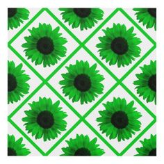 Rainbow Green Sunflower Panel Art - photographer gifts business diy cyo personalize unique
