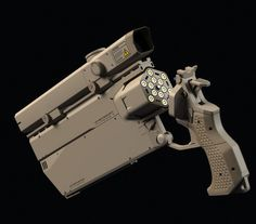 Equipped with a double shot .50 barrel plus an automatic 9mm.